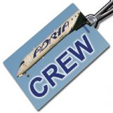 ADRIA AIRWAYS CRJ900 Crew Tag